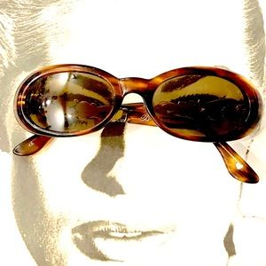Brighton Sound of Music Tortoise Silver Sunglasses